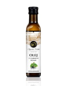 Olej z czarnego sezamu tłoczony na zimno