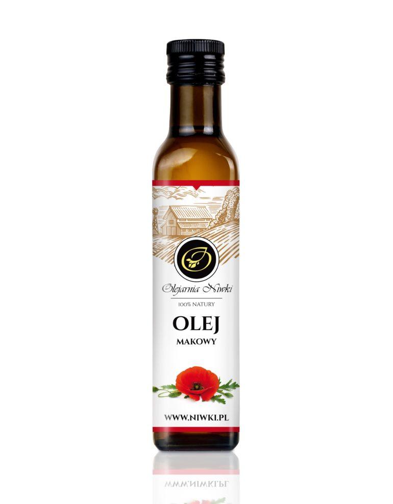 Olej makowy tłoczony na zimno